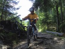 In giro con la mountainbike